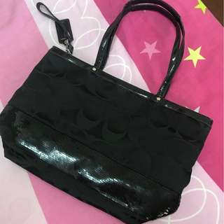 COACH Black Shoulder Bag/Hand Carry