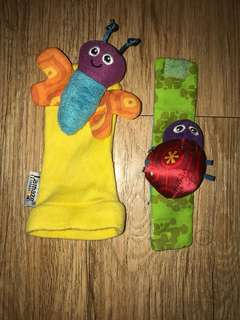 Lamaze Arm and Foot Sock Soft Rattle