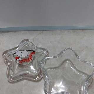 Snoopy 星型玻璃小盒子