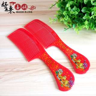 Chinese wedding Xi red Comb dowry