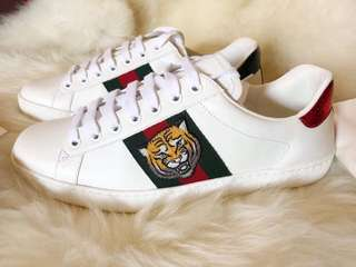 GUCCI Ace Embroidered Sneakers Mens (Authentic)