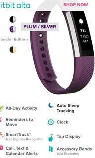 Fitbit altar limited edition plum\silver