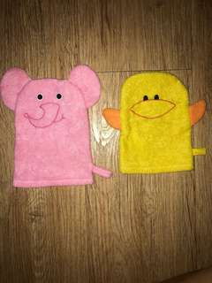 Soft Towel Scrub Animals (Set of 2)