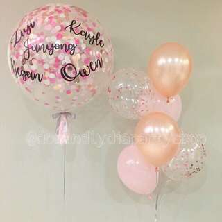 "36"" customized confetti balloon"