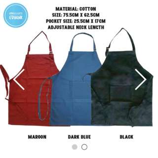 Customised Black/Blue Cotton Aprons with names/quotes/pictures (FREE REG MAIL ABOVE 10pcs)