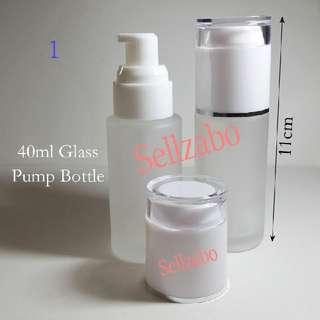 Pump Fragile Glass Bottles : Press For Liquid Face Skin Care Sellzabo White Head Travel Size Serum Moisturizers 40g