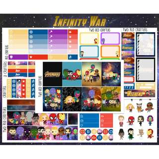Infinity War || Planner Sticker Kit for Erin Condren Vertical Life Planner