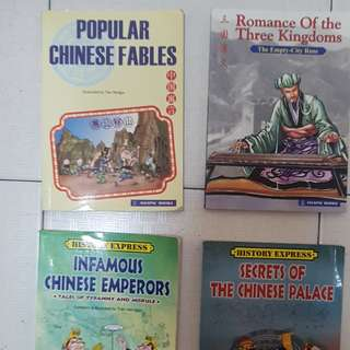 Assorted chinese comic books