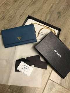 Prada Wallet on chain woc 銀包 金鏈