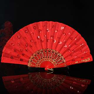 Chinese Wedding Red Fan