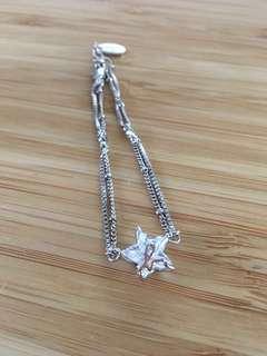 🌟Agnes B. X Swarovski 水晶星星銀鏈💫Agnes B. X Swarovski Crystal Star bracelet
