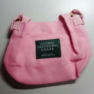 LIVING TRAVELING SHARE 粉色水桶包