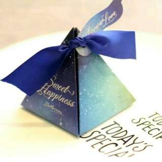 [In-stock] Galaxy Gift box/ Wedding Door Gift/ candy box Sweet little door gift for all events, such as wedding, engagement, baby shower, birthday, company event etc