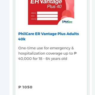 HEALTH CARD PHILCARE 700 instead of 1050
