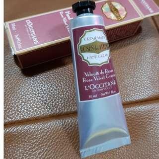 彩妝保養清潔No.25 L`occitane 歐舒丹玫瑰絲絨護手霜Rose Hand Cream  30ml