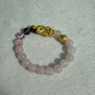 999 Gold Pixiu Rose Quartz