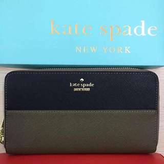Kate Spade Wallet - Oak Green and Black