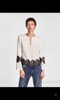 Europe and America lace blouse shirt
