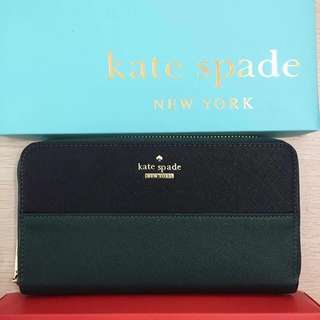 Kate Spade Wallet - Dark Green and Black