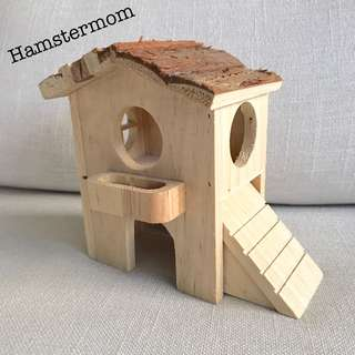 Hamster Brown Wooden Mini Playground House