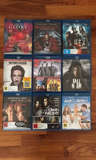 Blu Ray Movies - 9 titles