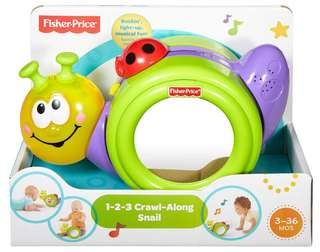 Brand New Fisher Price 1-2-3 Crawl Along Snail