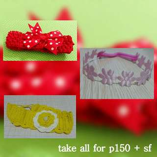 3 headbands for your baby!