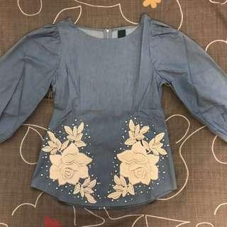 (私)正韓 🇰🇷設計款刺繡上衣