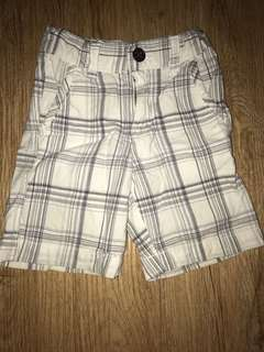 Baby Gap White Plaid Shorts