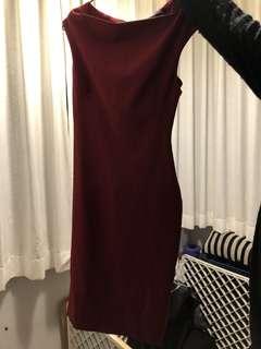 Zara Red dress for simple wedding