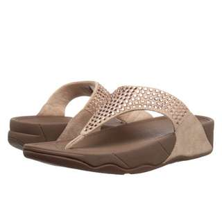 FitFlop Glitzie Toe-Thong Sandals | Nude | US Women's Size 5,6,7,8,9,11 | Flip Flop Sandal Slipper