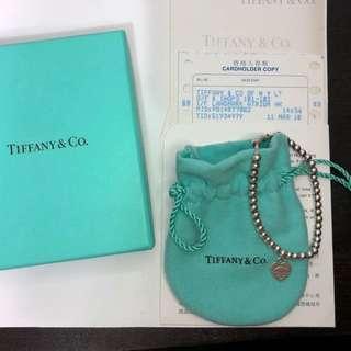 Tiffany 銀珠愛心手鍊