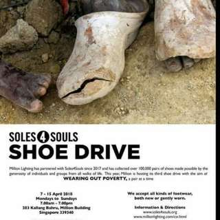 Donate your new or gently worn shoes