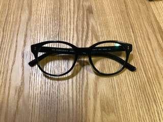 Burberry黑框眼鏡(平光鏡)