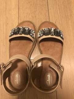Clarks leather slipper