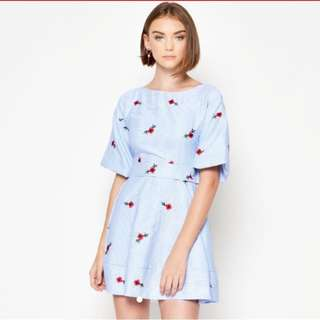 Loveandbravery Klavdia floral stripe dress