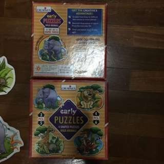 Pre-loved wild animals puzzles