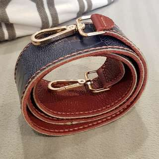 Genuine Leather Reversible Bag Strap