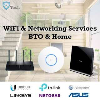 WiFi (wireless) Coverage & Networking Services (Setup, Configuration, Troubleshooting) - Home & BTO Package