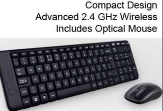 Logitec wireless keyboard and mouse mk220