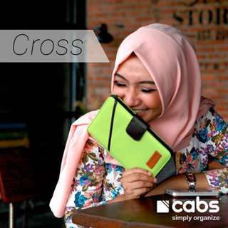 Cabs Pocket Cross (Dompet Murah Serbaguna, Dompet Anti Air, Dompet Lokal Organizer, HPO Unik Untuk Pria & Wanita) Green