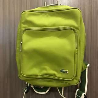 Authentic Lacoste green backpack