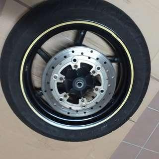 "Gilera 14"" front wheel upgrade"