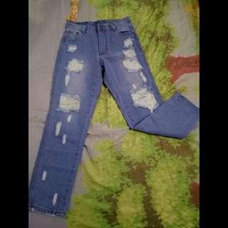 BNWT Light Blue Tattered Boyfriend Jeans
