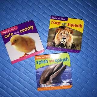 Repriced 3pcs animals book