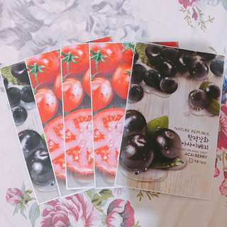 [RUSH SALE] Nature Republic Face Masks