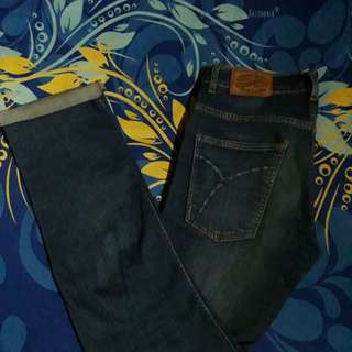 Blue wash strech denim by GUMMO
