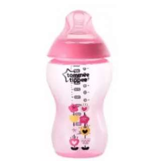 1 x TOMMEE TIPPEE CTN Decorated Tinted 340ml/12oz Bottle (Pink)