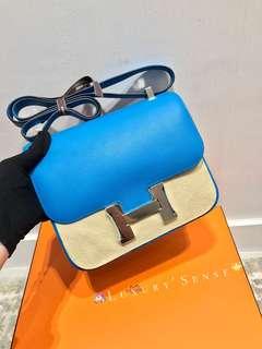 ✨全新 2018買入! 🦄Hermes✨💙Constance 24 B3 Blue Zanzibar 坦桑尼亞藍 Evercolor皮 Phw銀扣 A $99000
