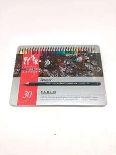 Caran D'Ache Pablo Water Resistant Coloured Pencils Tin of 30